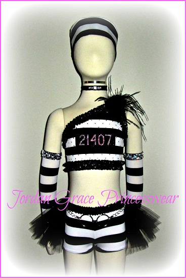 Pageant Wear 002-Jordan Grace Princesswear custom pageant wear, jailbird theme