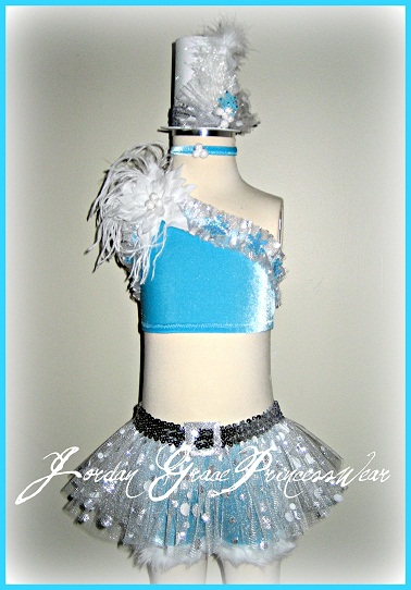 Pageant Wear 037-Jordan Grace Princesswear custom pageant wear, winter wonderland