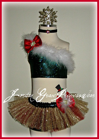 Pageant Wear 038-Christmas Pageant Wear by Jordan Grace Princesswear