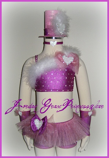 pageant Wear 040-Jordan Grace Princesswear custom pageant wear, valentines pageant wear