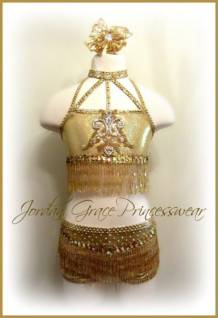 """Dripping in Gold""-Jordan Grace Princesswear custom dance costume"